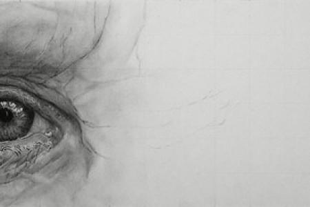 超写实眼睛素描画法步骤图