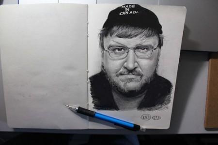 自动铅笔素描画 厉害的人物素描头像教程