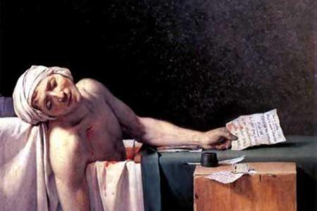 世界名画雅克·路易·大卫的《马拉之死》隐藏着的秘密