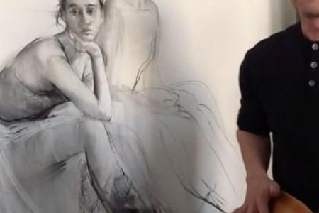 布洛欣人物素描:芭蕾舞女孩画画过程视频
