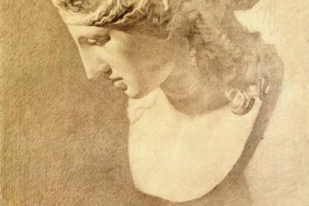 素描中石膏像与背景墙的关系该怎么画?