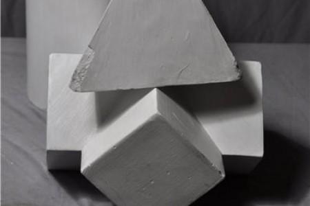 三角体 四菱锥贯穿体 圆柱体组合 高清素描写生照片