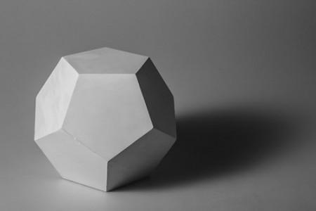 十二面五角石膏几何体 高清照片 素描写生图片