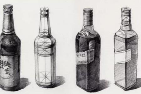 素描玻璃瓶的画法