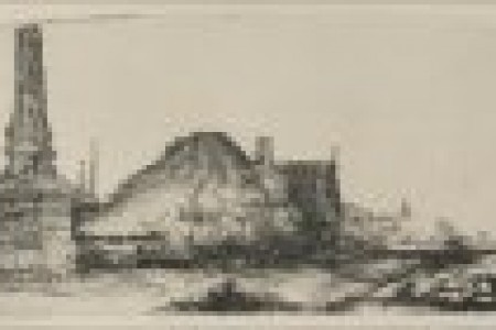 伦勃朗素描风景