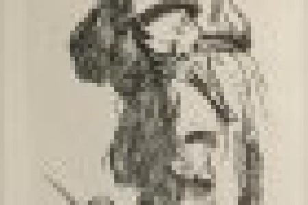 伦勃朗素描人物全身形象