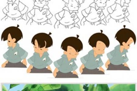 卡通人物创作的各个阶段,从草图到成品