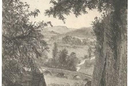 门瑟的风景写生作品