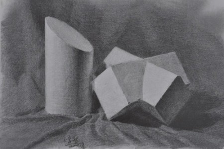十部素描几何作品评析