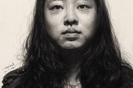 刘斌的素描一幅具有强烈光感和纹理细节的素描