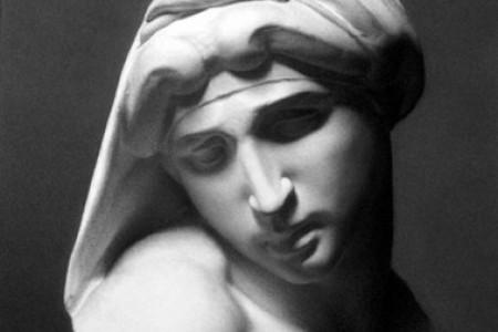 一个石膏模型,有美丽精致的图片。