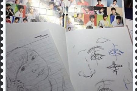 素描本与高中自画像