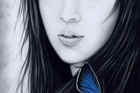 波兰艺术家的美女素描