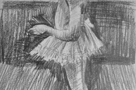 小女孩的素描和精美的手绘作品