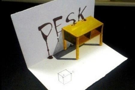 小桌3d立体图手绘教程