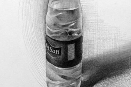 矿泉水瓶素描与绘画的三个要点