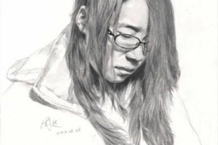 6幅适合艺术考生的青年男女速写画像
