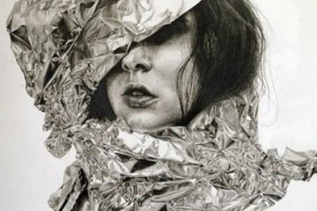吉莉安·兰伯特面部素描研究作品
