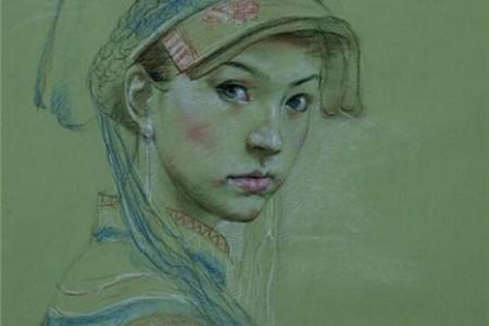 给草图添加颜色是一幅彩色铅笔画。