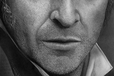 崇义的超现实主义铅笔素描画像