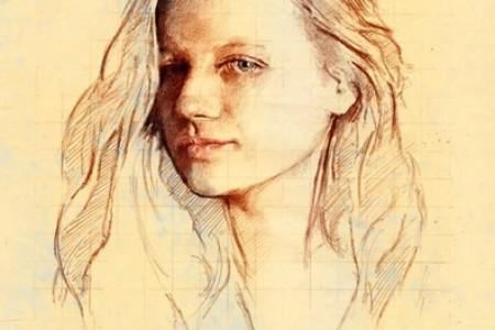 彩色铅笔创意肖像素描