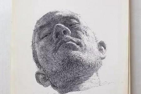 单笔笔画铅笔图形草图