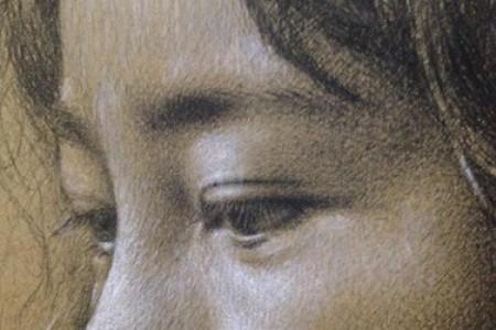 牛皮纸中国碳化铅笔白色粉笔素描头