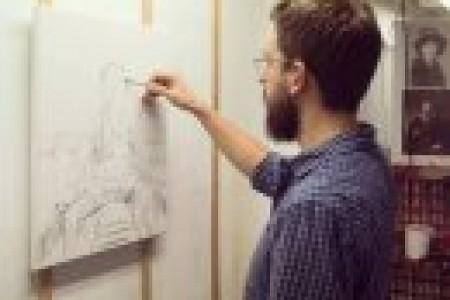 外国画家密克尔·维特虚幻素描赏析