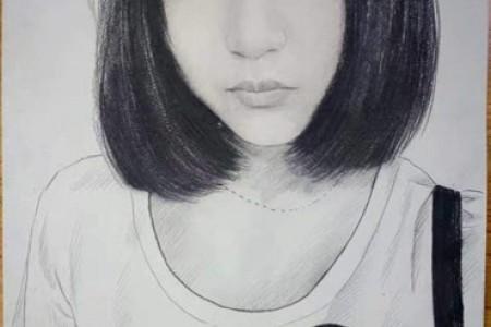 短发女孩素描也可以性感可爱