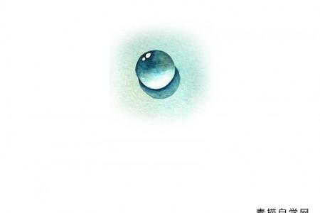 一组简单的水彩画草图