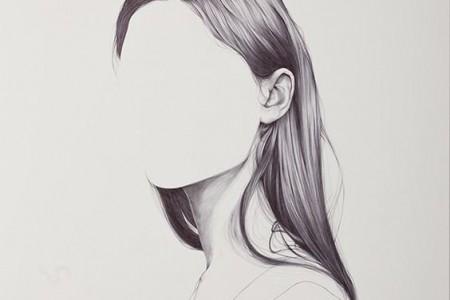 美丽的发型素描,真想看完这幅画!