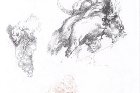 美丽插画家幻想和动物主题素描欣赏
