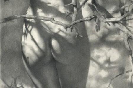 只欣赏漂亮女性的身体素描——乌克兰画家丹尼斯。Chernov