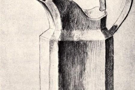 牛奶壶水壶餐具壶素描-梵高