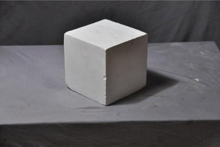 石膏立方体超清晰大图侧光面