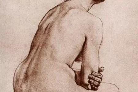 素描大师康博夫的人体素描作品