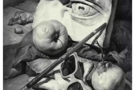 静物画:苹果梨太阳镜手套般的眼贴
