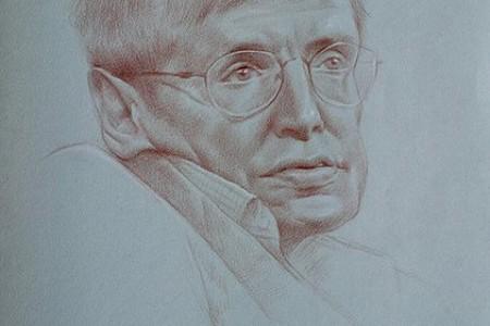 霍金的素描头像画