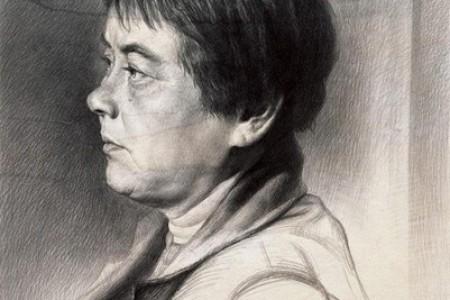 曾传兴素描作品:人物肖像与人体素描