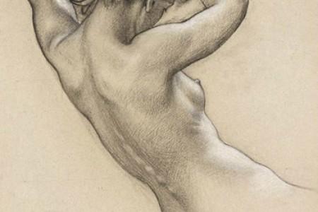 英国画家赫伯特·詹姆斯·卓帕赫伯特·詹姆斯·德雷珀的人体素描