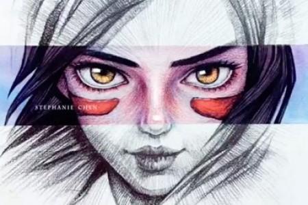 战斗天使阿里塔素描手绘图片视频