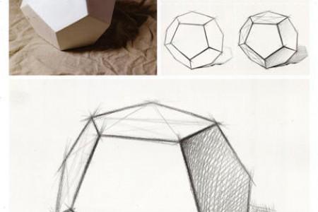 十二面体正五边形多面体结构草图教程