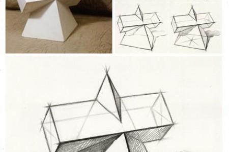 棱锥体组合结构素描绘画课程