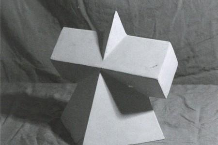 如何绘制四棱锥和棱镜的组合?几何草图课程计划