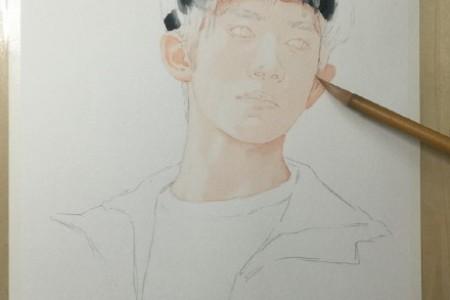 易烊千玺手绘彩色铅笔画的步骤和方法