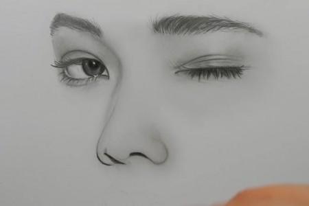 美女肖像素描视频教程超级牛笔手绘