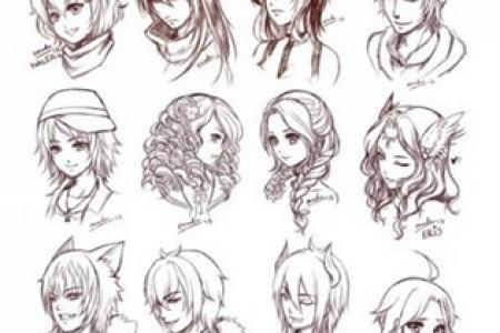一百种卡通发型的绘画方法可以拿走