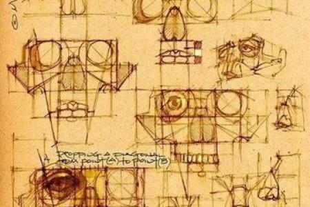 绝版人体解剖学系列素描手稿