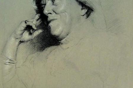 徐芒耀和他的导师泉山石学习绘画的过程受到人们的钦佩和钦佩。