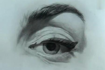 刘斌先生的素描:教你在脸上画眼睛和点线